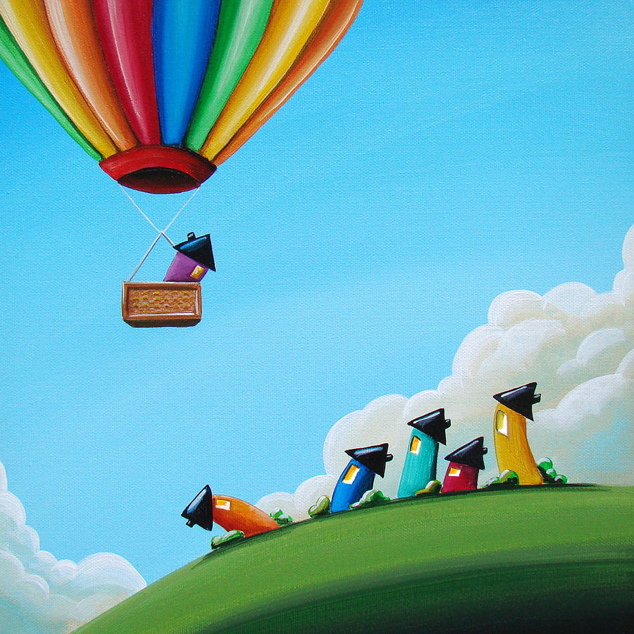 Up Up And Away Painting  - Up Up And Away Fine Art Print