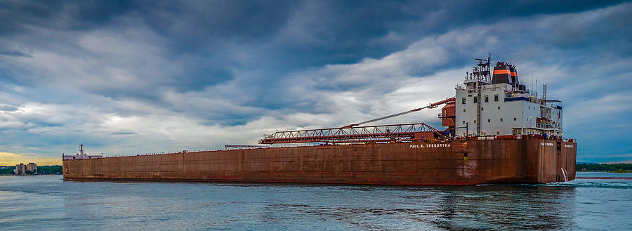 Sault Ste. Marie Photograph - Upbound At Mission Point 2 by Gales Of November