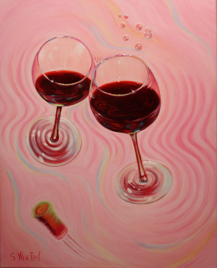 Flying Wine Cork Painting - Uplifting Spirits II by Sandi Whetzel