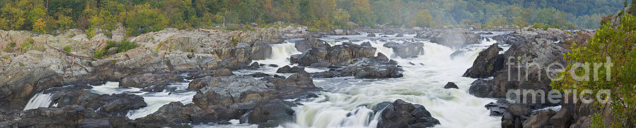 Upper Great Falls Panorama Photograph  - Upper Great Falls Panorama Fine Art Print