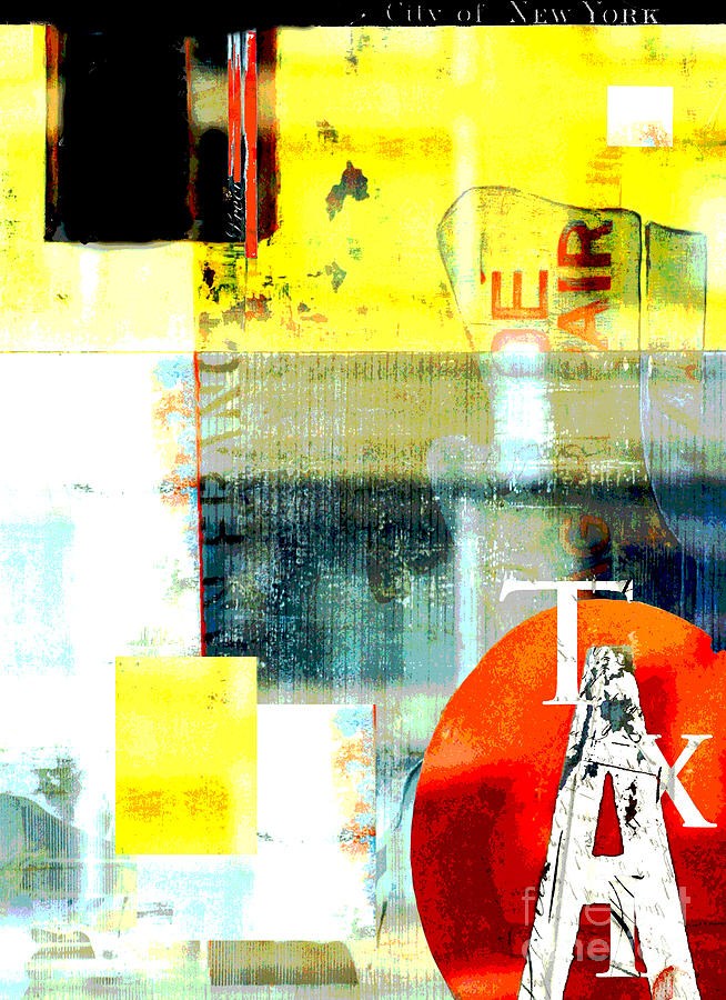 Urban Abstract In Red And Yellow Digital Art
