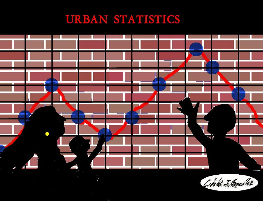 Urban Design Series- Urban Statistics Mixed Media