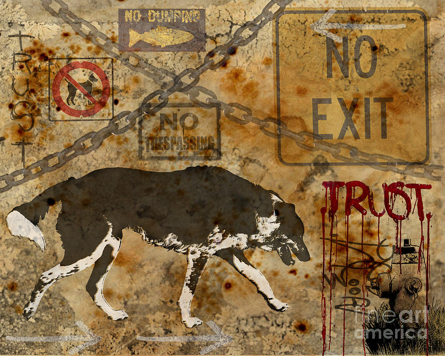 Urban Dog Digital Art  - Urban Dog Fine Art Print