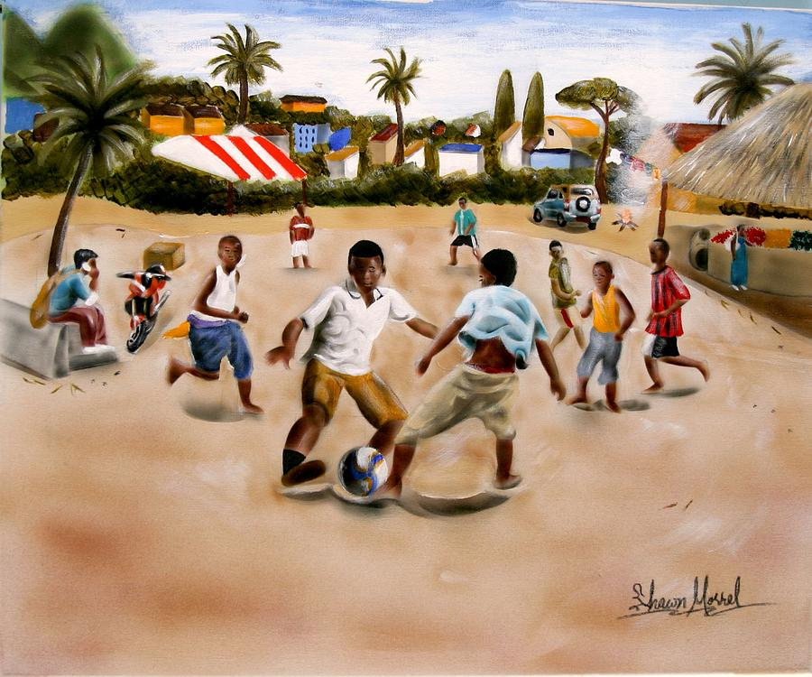 Soccer Painting - Urban Moment 6 by Shawn Morrel