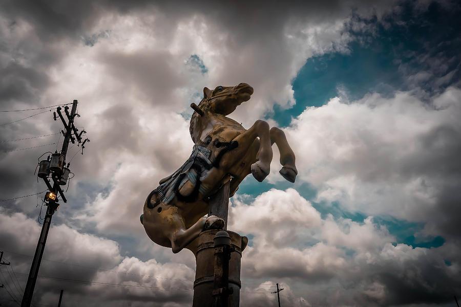 Horse Photograph - Urban Sky Horse by Louis Maistros
