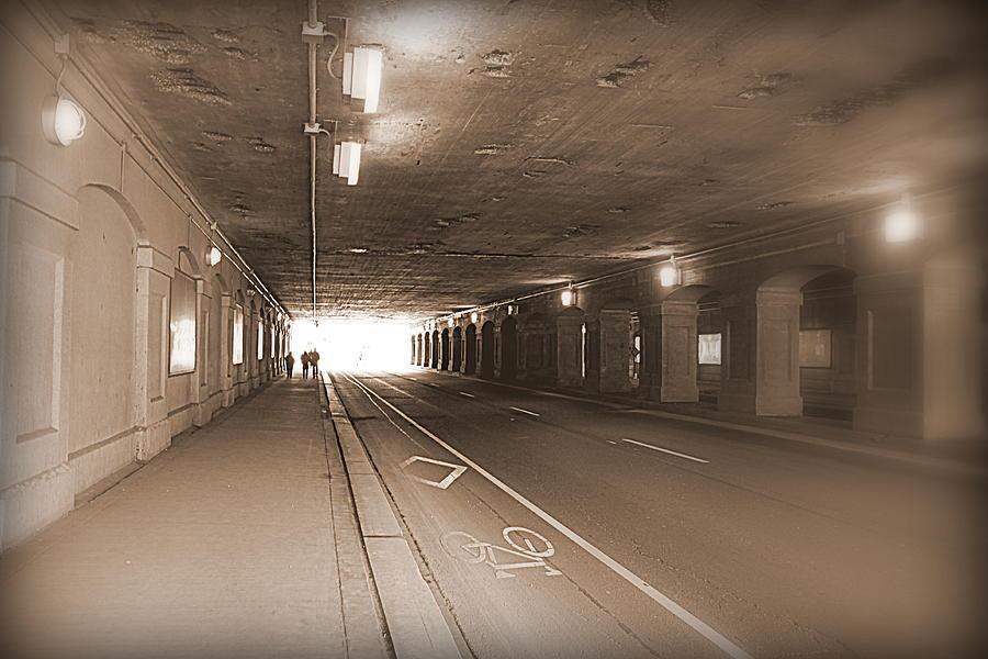 Urban Photograph - Urban Tunnel by Valentino Visentini