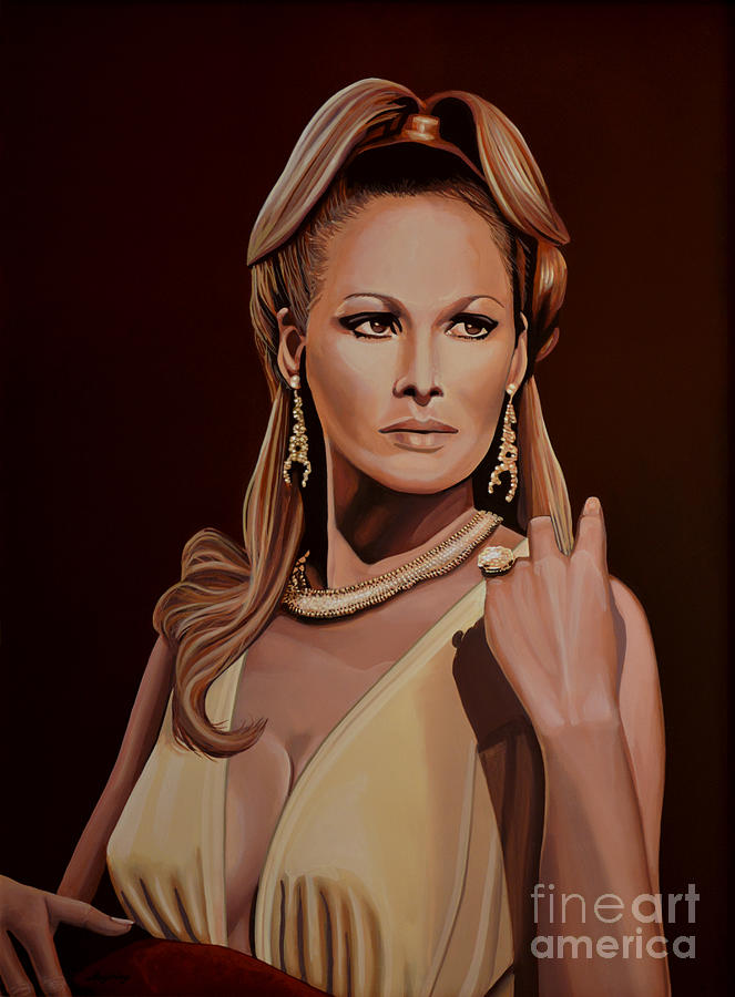 Ursula Andress Painting - Ursula Andress by Paul Meijering