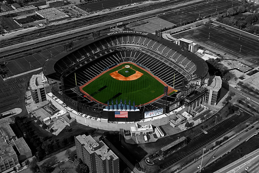 Us Cellular Field Chicago Sports 08 Selective Coloring Digital Art Photograph  - Us Cellular Field Chicago Sports 08 Selective Coloring Digital Art Fine Art Print