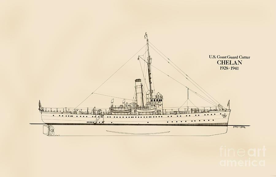 U.s. Coast Guard Cutter Chelan Drawing