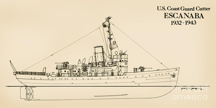 U.s. Coast Guard Cutter Escanaba Drawing