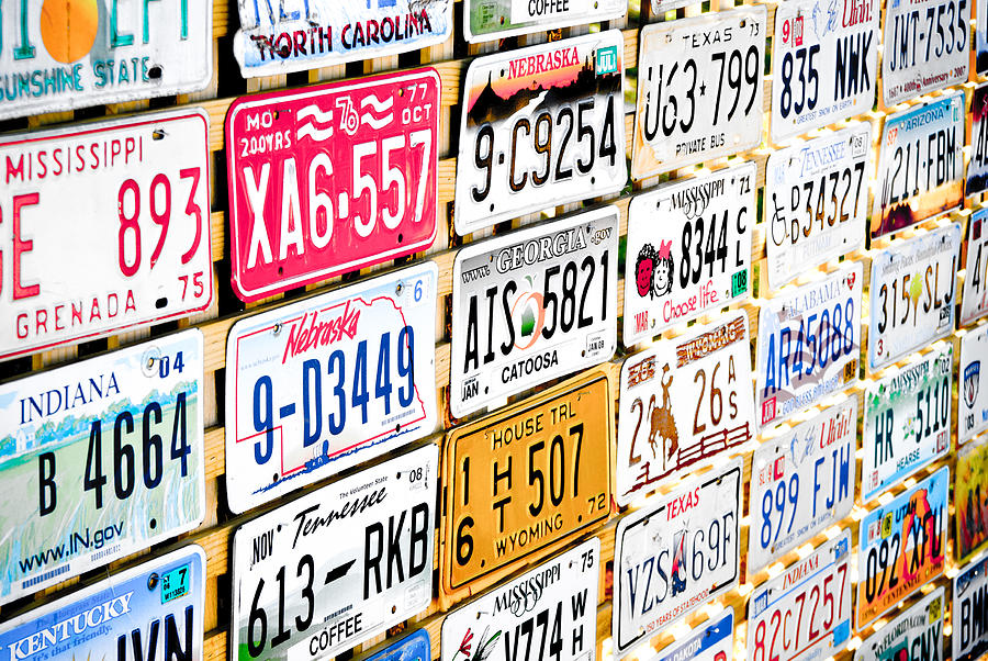 American Photograph - Us Plates by Phil motography Clark