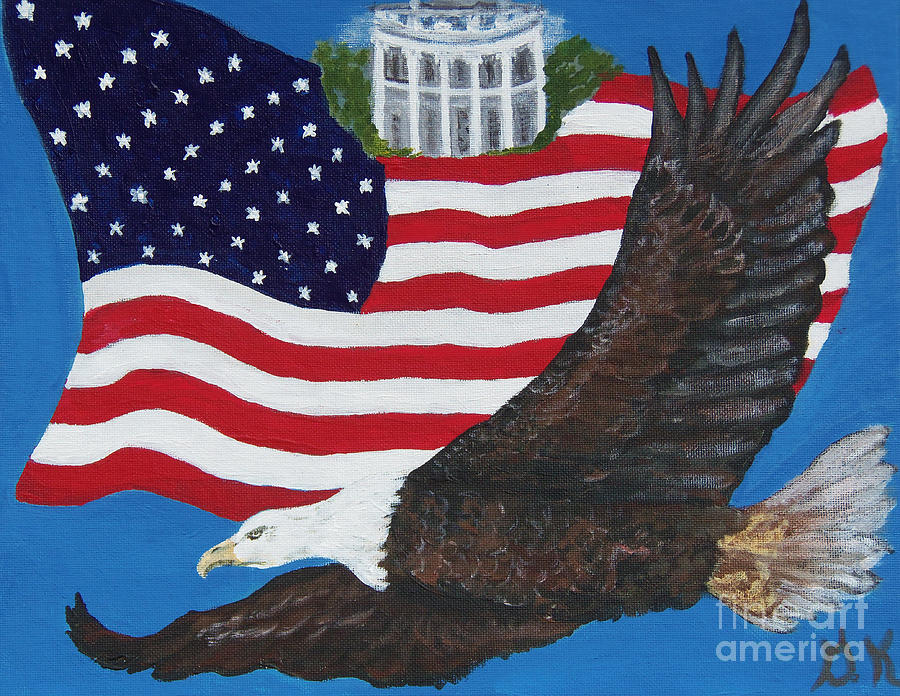 Usa Proud Painting  - Usa Proud Fine Art Print
