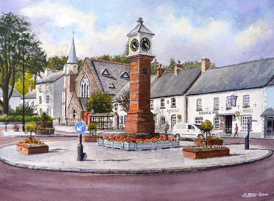Usk Painting - Usk In Bloom by Andrew Read
