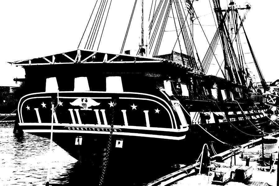 Uss Constitution Photograph - Uss Constitution by Charlie and Norma Brock