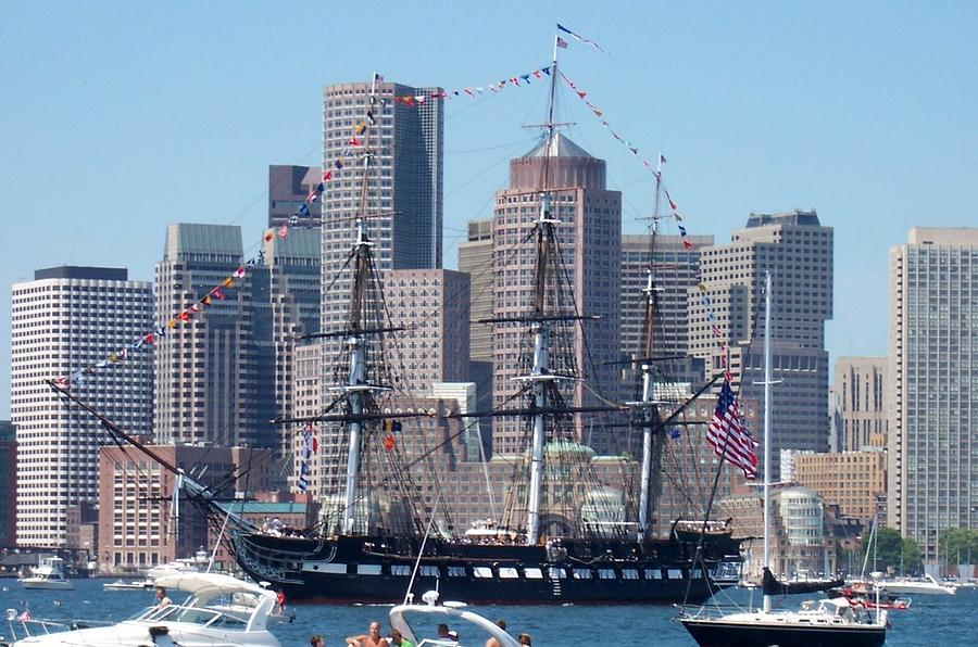 Ship Photograph - Uss Constitution by Catherine Gagne