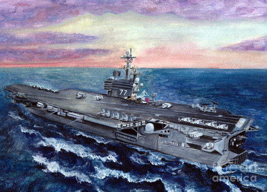 Uss George H.w. Bush Painting  - Uss George H.w. Bush Fine Art Print
