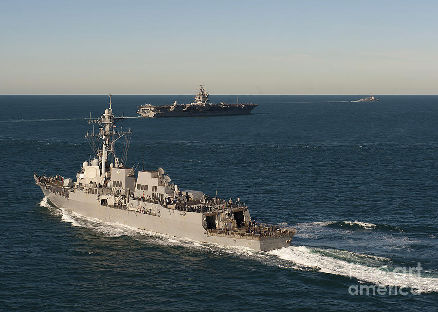 Uss James E. Williams Is Underway Photograph  - Uss James E. Williams Is Underway Fine Art Print
