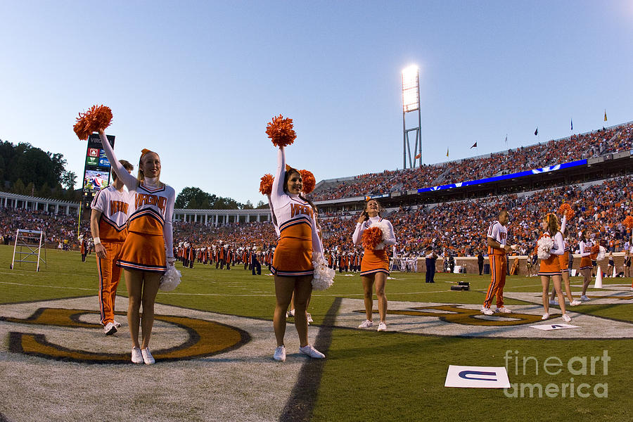 Uva Cheerleaders Photograph