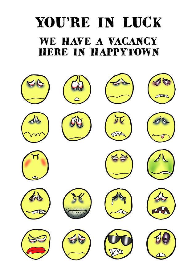 Vacancy In Happytown Digital Art