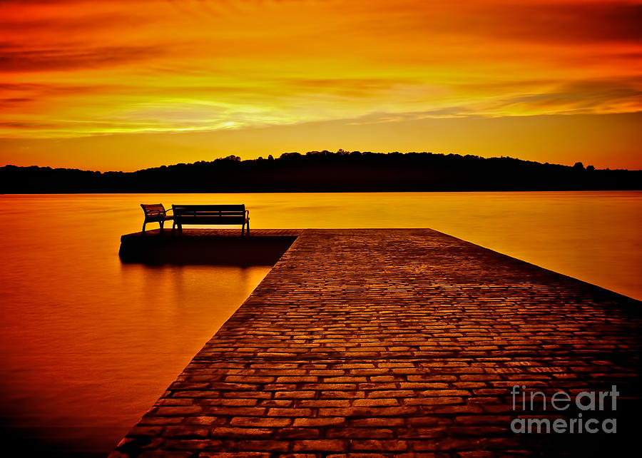 Vacant Sunset Photograph  - Vacant Sunset Fine Art Print