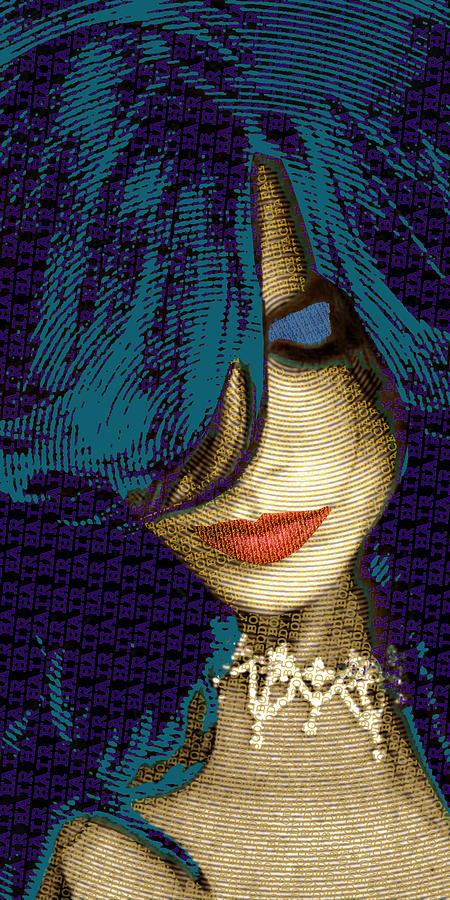 Woman Painting - Vain 2 by Tony Rubino