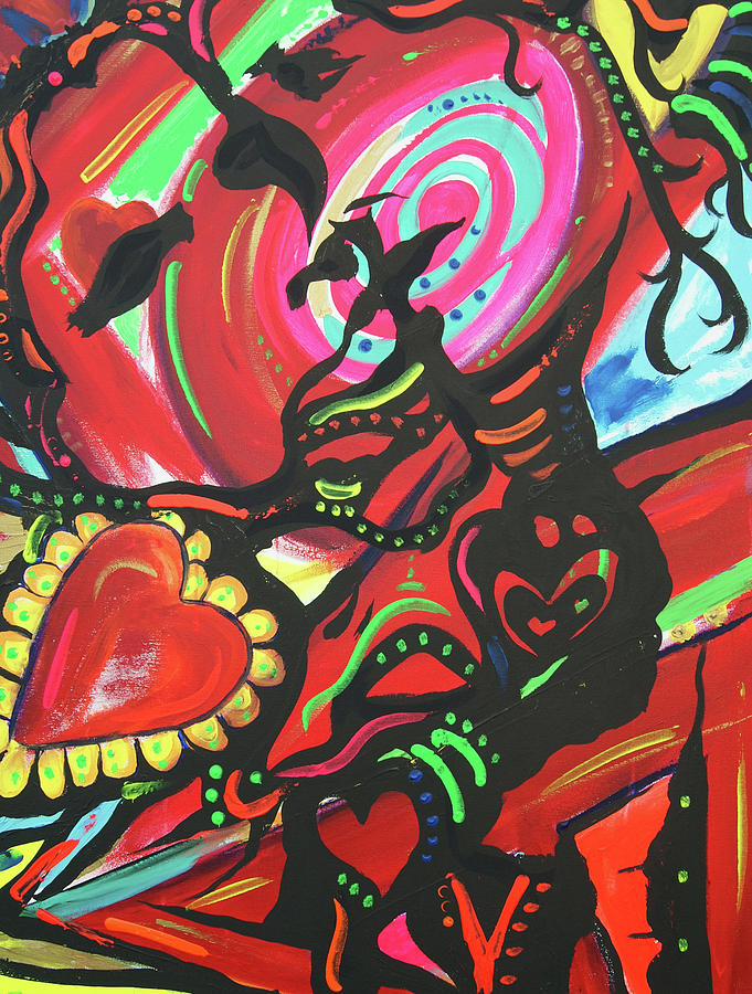 Valentines Day Painting  - Valentines Day Fine Art Print