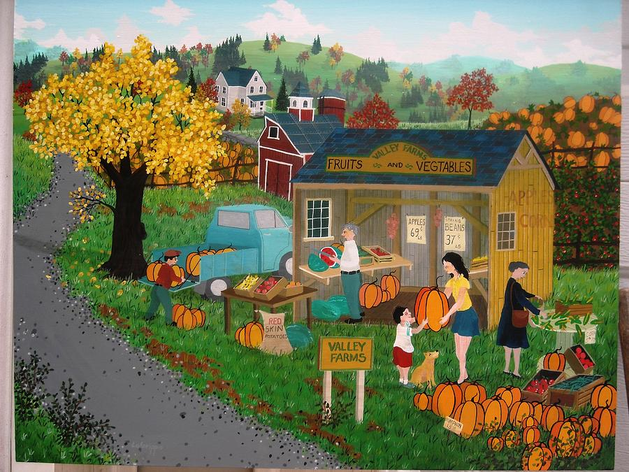Valley Farms  Painting