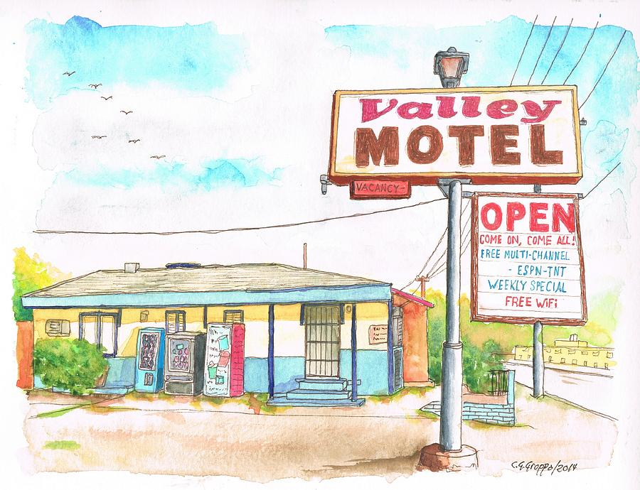 Valley Motel In San Bernardino Route 66 - California Painting