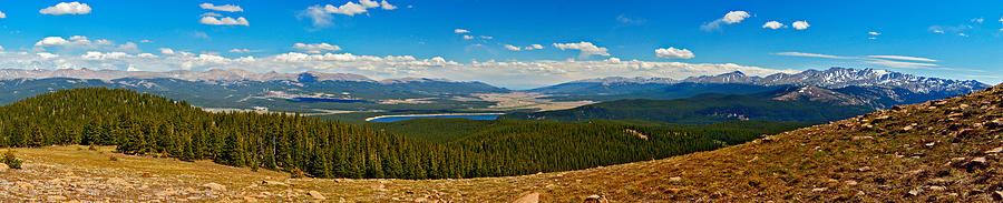 Valley Of 14ers Panorama Photograph  - Valley Of 14ers Panorama Fine Art Print