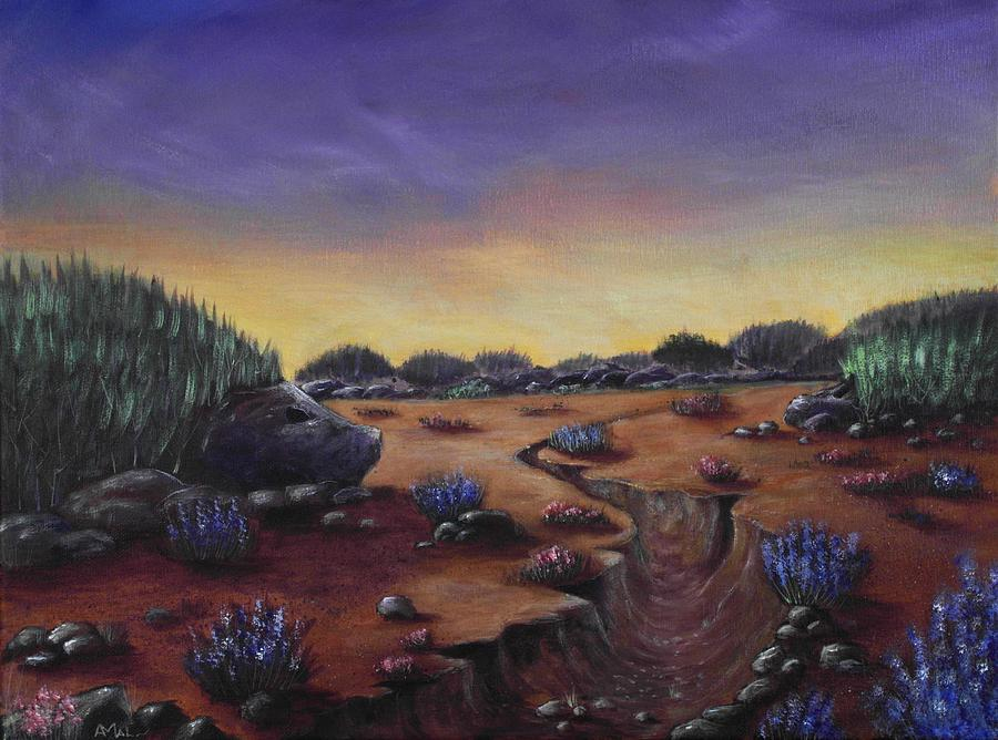 Valley Of The Hedgehogs Painting