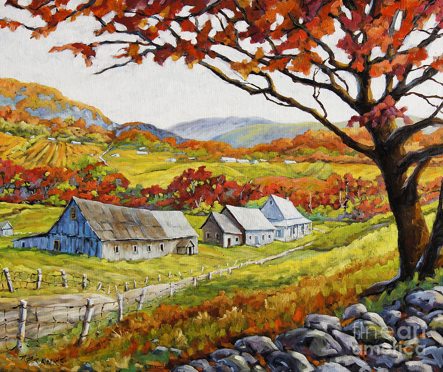 Valley View By Prankearts Painting  - Valley View By Prankearts Fine Art Print
