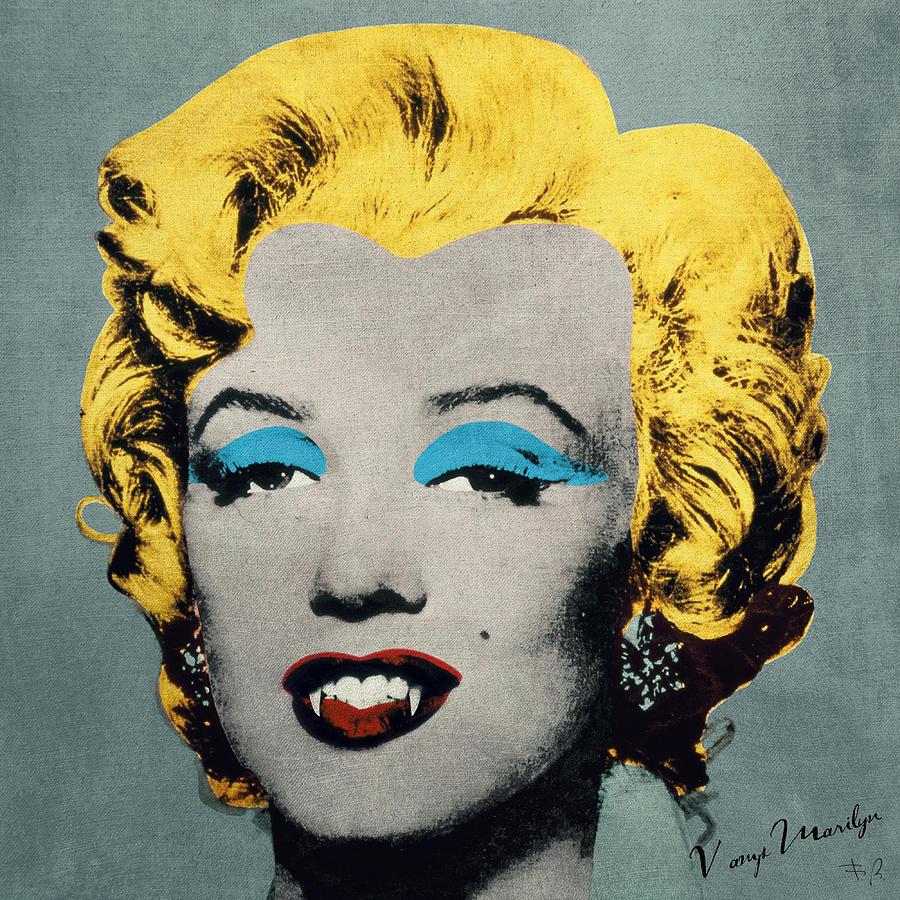 Vampire Marilyn Digital Art