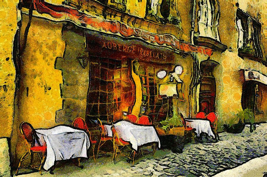 Van Gogh Style Restaurant Photograph