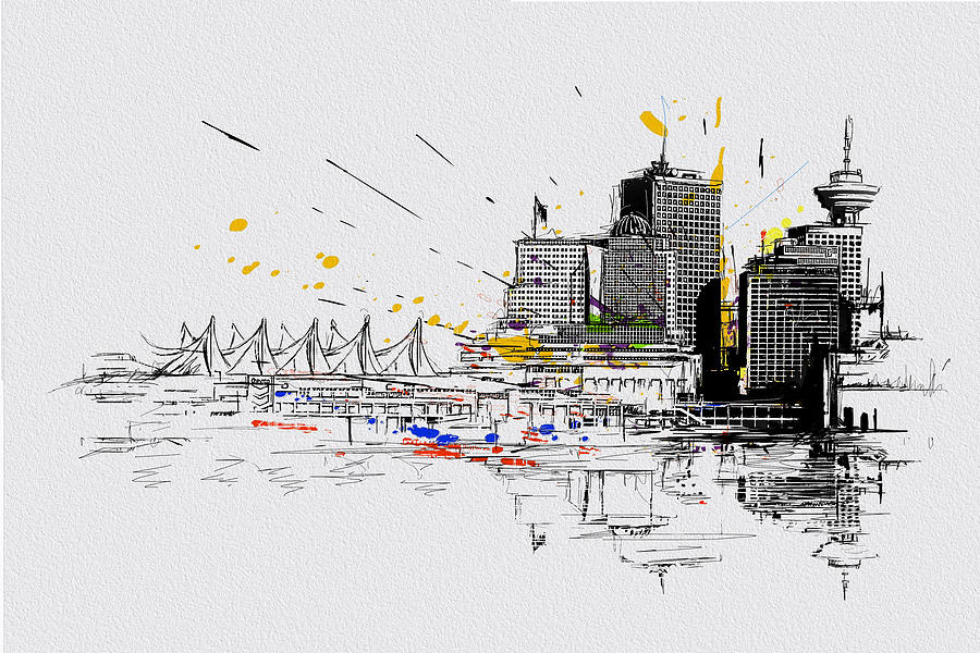 Vancouver Painting - Vancouver Art 004 by Catf