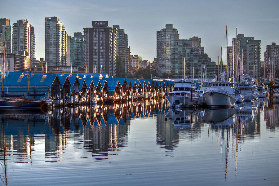 Vancouver Photograph - Vancouver Boat Reflections by Eti Reid