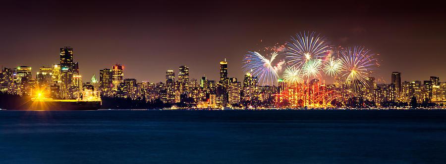 Fireworks Photograph - Vancouver Celebration Of Light Fireworks 2013 - Day 2 by Alexis Birkill