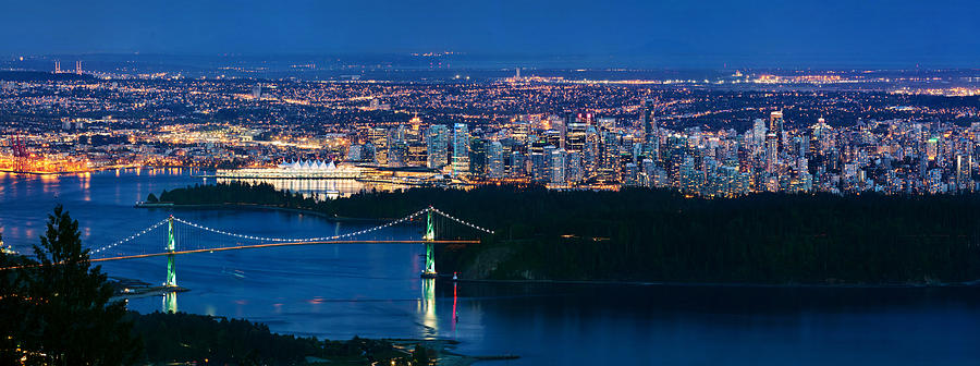 Vancouver From Cypress Mountain Photograph