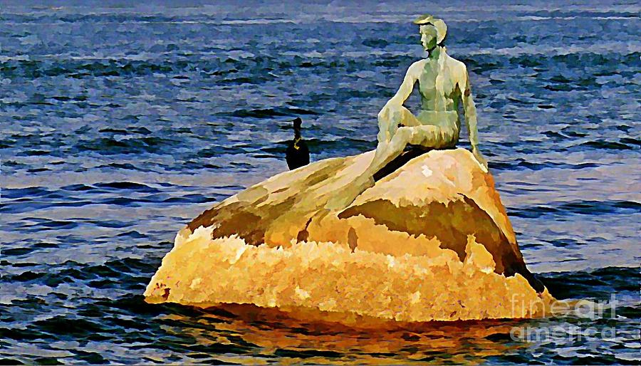 Beautiful Statue Art Painting - Vancouver Harbour Near Stanley Park by John Malone