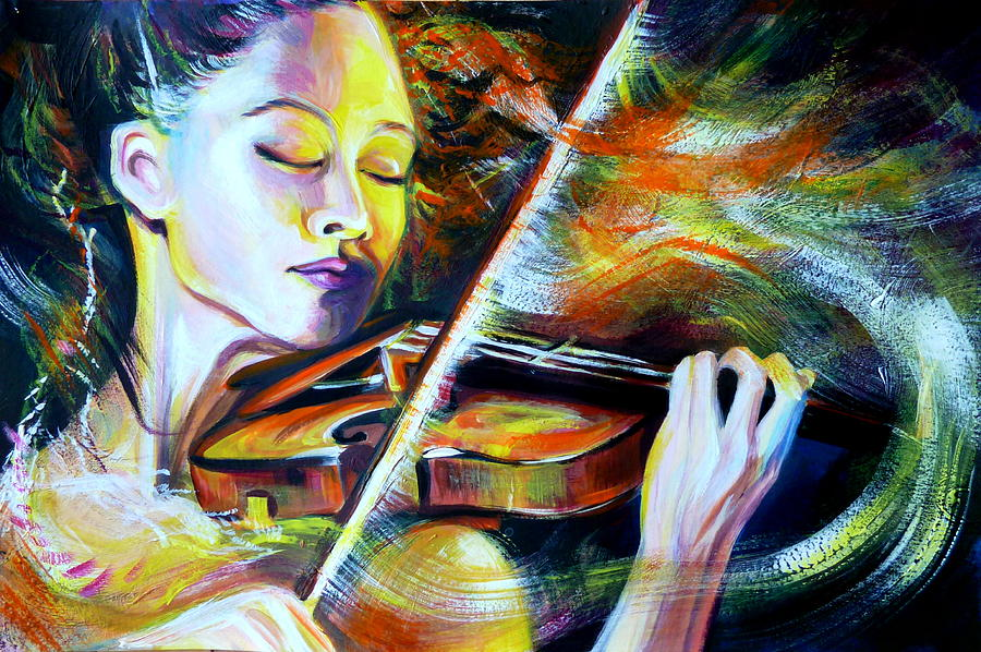 Vanessa-mae.power Of Music Painting  - Vanessa-mae.power Of Music Fine Art Print