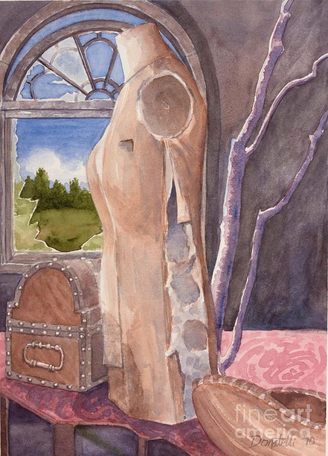 Vanitas Attic Scene Painting