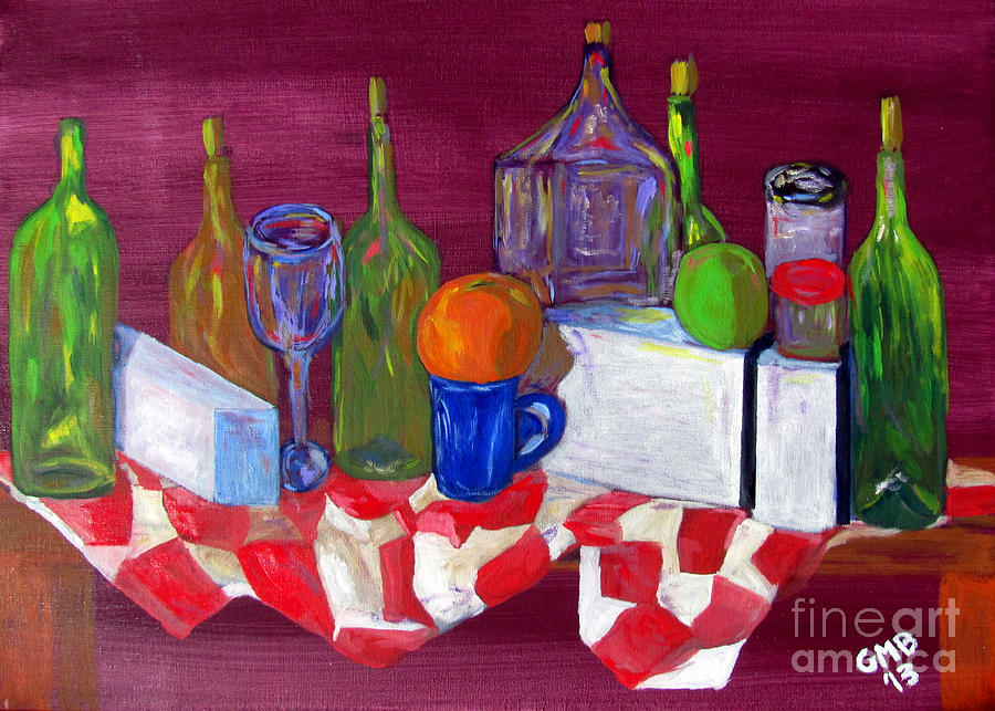 Varied Still Life Painting  - Varied Still Life Fine Art Print