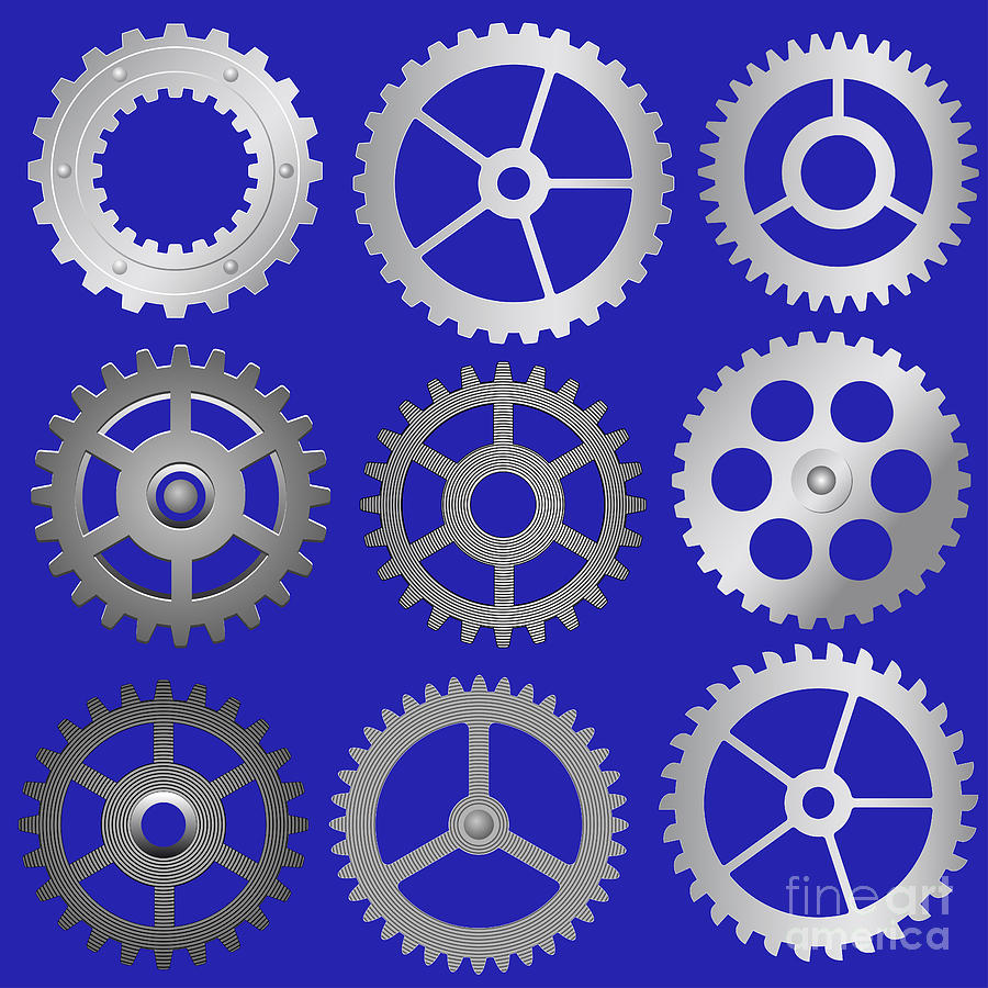 Various Vector Gears Digital Art