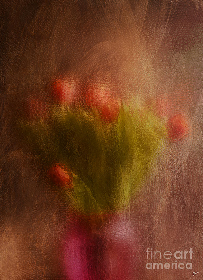 Vase Of Tulips  Photograph  - Vase Of Tulips  Fine Art Print