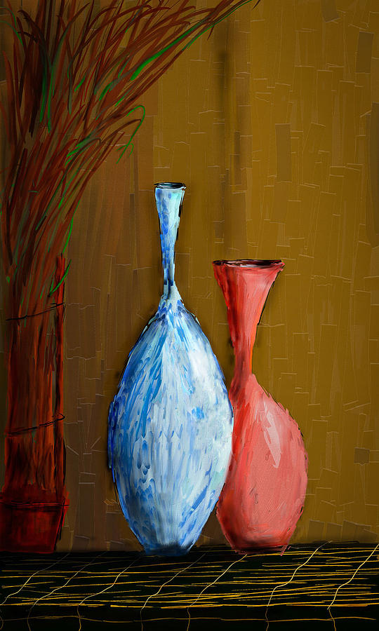 Vases Digital Art - Vases by Vandana Rajesh