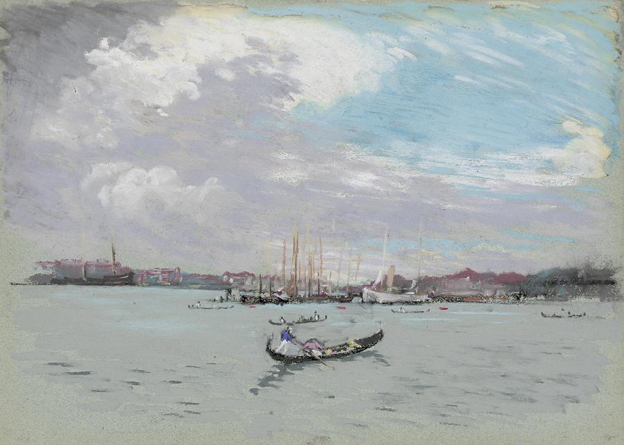 Vast Lagoon Outside Venice Circa 1901 Painting