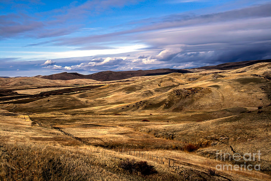 Vast View Of The Rolling Hills Photograph