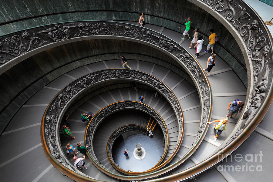 Europe Photograph - Vatican Spiral Staircase by Inge Johnsson