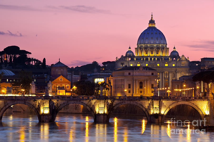 Vatican Twilight Photograph  - Vatican Twilight Fine Art Print