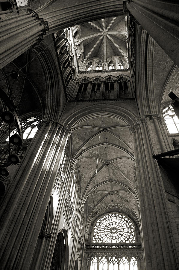 Vaults Of Rouen Cathedral Photograph  - Vaults Of Rouen Cathedral Fine Art Print