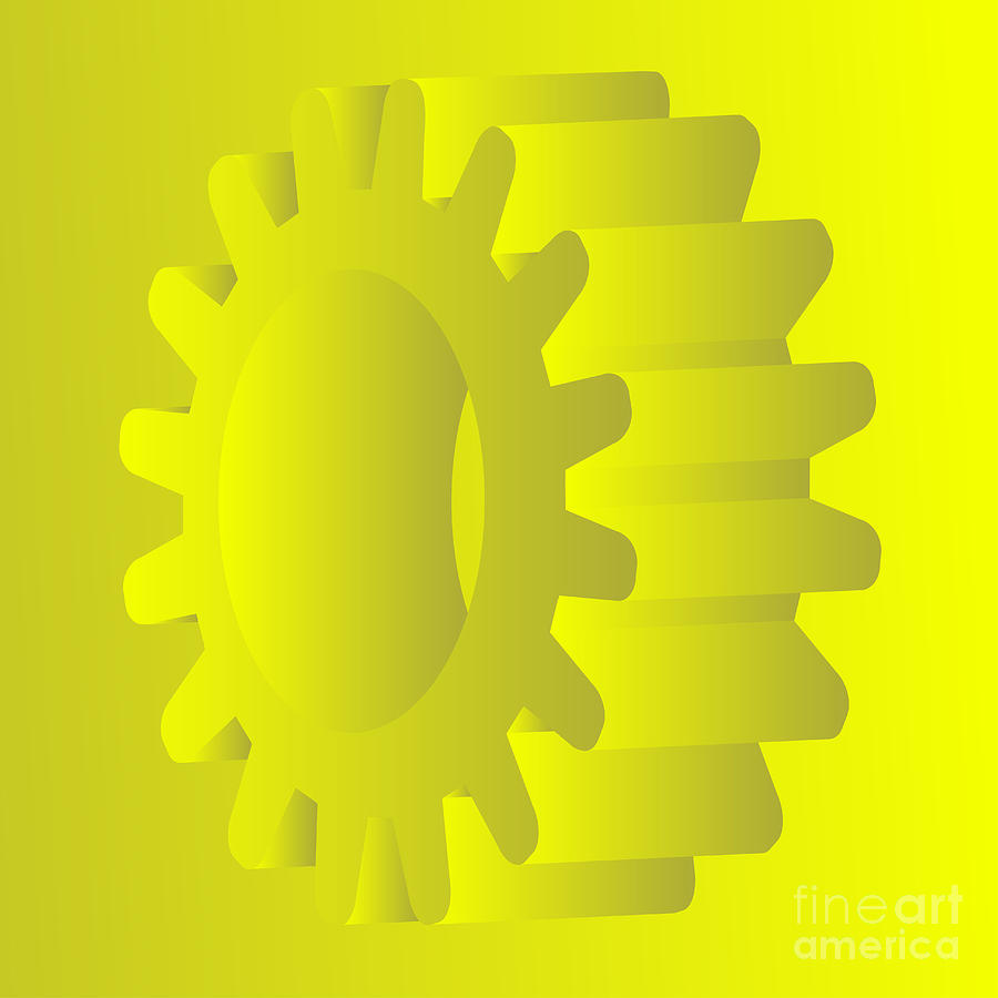 Vector Gears Digital Art  - Vector Gears Fine Art Print